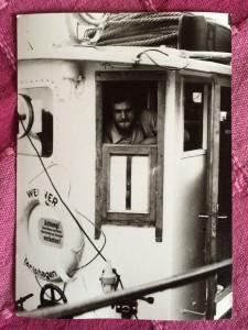 Manfred Braun an Bord seines Schiffs