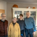 Zu Besuch (v.l.) : Wolfgang Rimroth, Dorothea Rimroth und Tochter Christiane Rimroth sowie Gerhard Jahreis