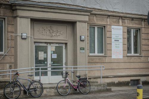 """Eingang zu """"Haus 7"""", dem Sitz der Tonabteilung des Stasi-Archivs"""