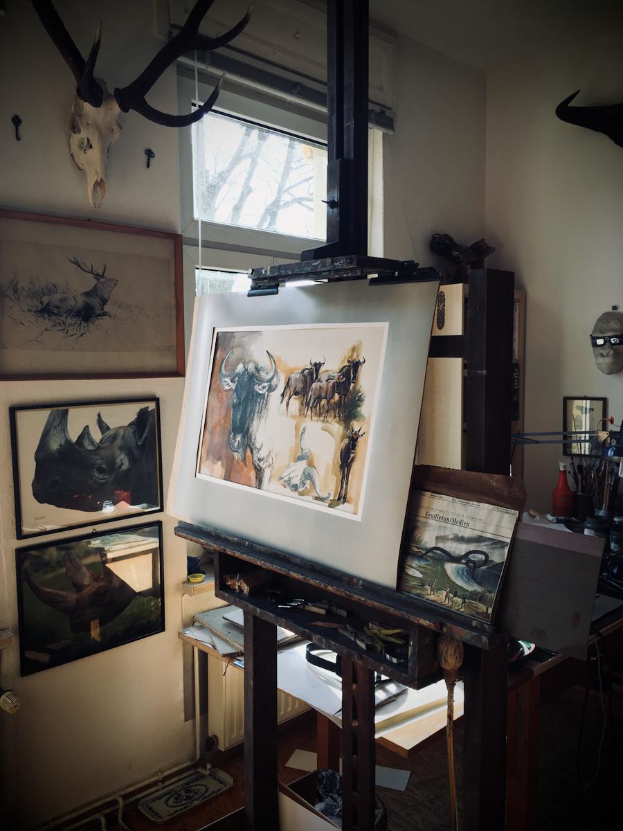 Ein Blick ins Atelier von Reiner Zieger