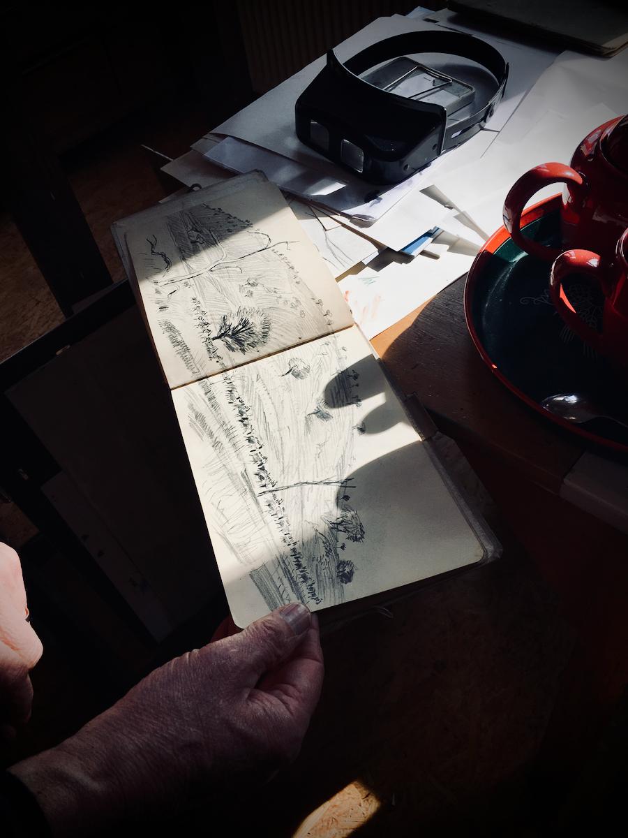Das Skizzenbuch von Reiner Ziegers Afrikareise