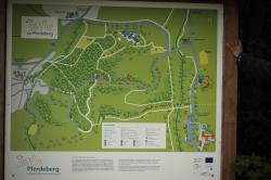 Eine Karte des Pferdebergs mit Hundespuren