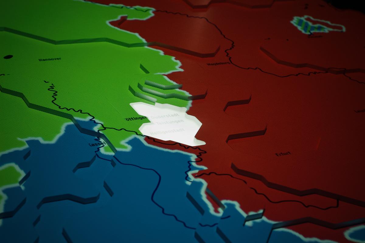 Zwischen den Machtblöcken: Das Deutschlandmodell zeigt die Lage des Eichsfelds
