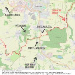 Karte des Gebiets aus der Folge