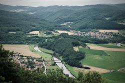 Blick auf den Grenzfluss Werra