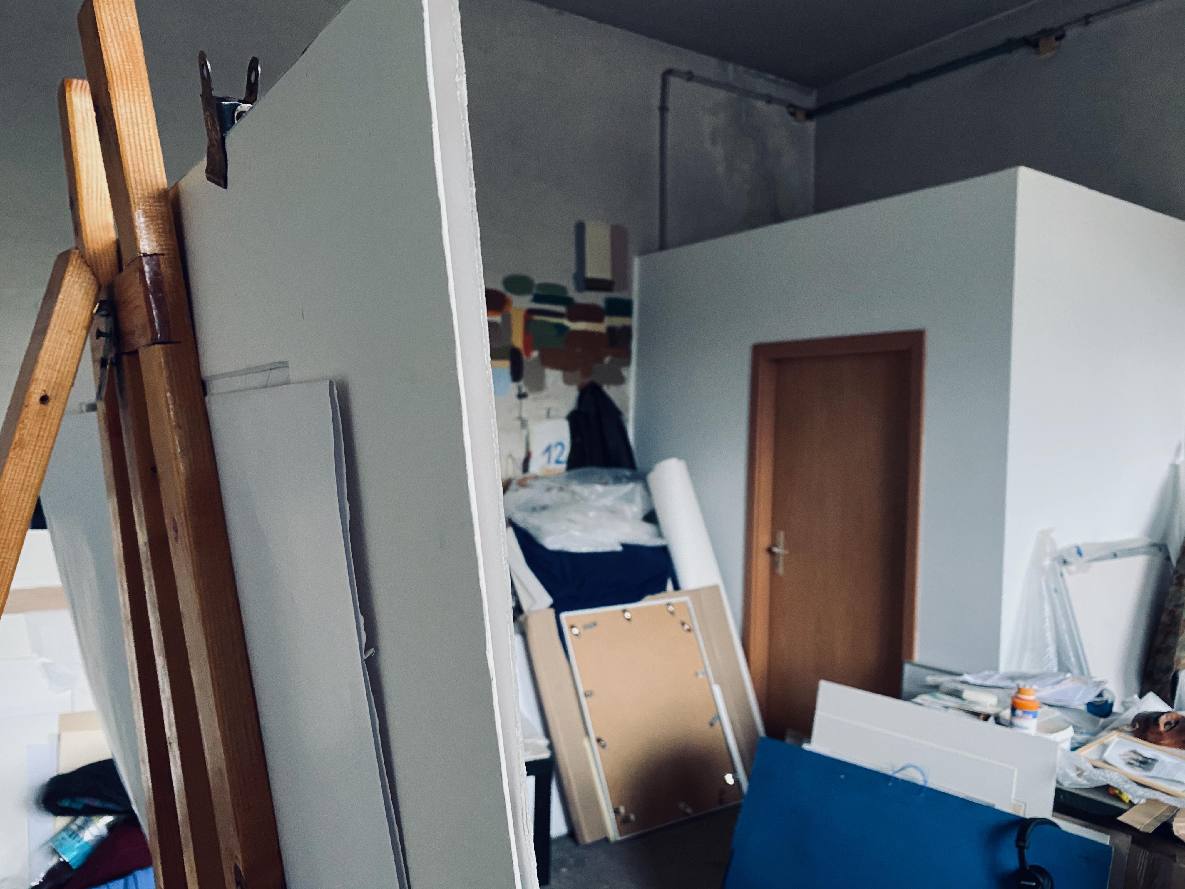 Blick ins Atelier von Horst Sakulowski